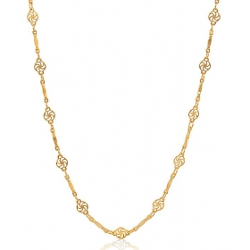 Finely Designed 18 Kt Gold Plated Chain