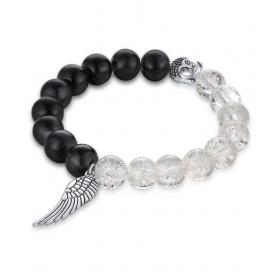 Limited Edition Elegant Black & White Onyx Stone Delicate Buddha Face Fascinating Charm