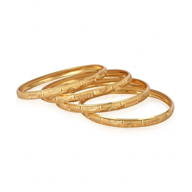 Galaxy Well Crafted Gold Plated Set Of 4 Bangles