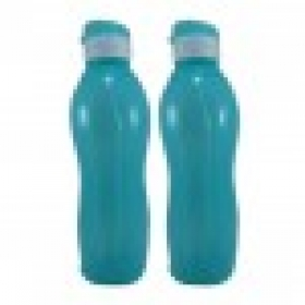 Jimit Fliptop 1000 Ml Plastic Bottle (pack Of 2, Blue)