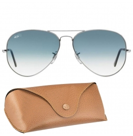 Sunglasses Aviator blue Goggles With leather Cover