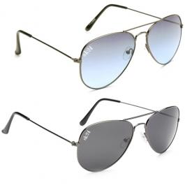Sunglasses Black & Blue Avaitor Goggles