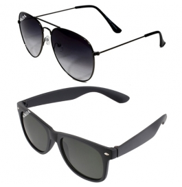 Sunglasses Black Avaitor & Wayfarer Goggles