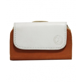 Belt Case Mobile Leather Carry Pouch Holder Cover Clip For Apple Iphone 5 White Orange