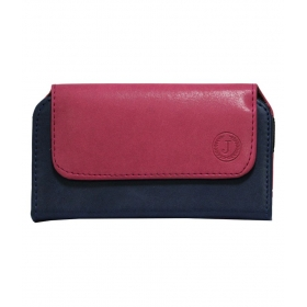 Mobile Leather Carry Pouch Holder For Samsung Galaxy Core Ii Pink Dark Blue