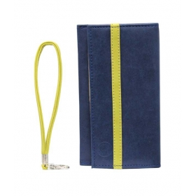 Leather Wallet Universal Pouch Cover Case For Microsoft Lumia 535 Dark Blue Parrot Green