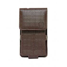 Leather Pouch Holster Case For Blackberry Z10 Brown
