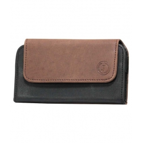 Case Mobile Leather Carry Pouch Holder Cover Clip For Asus Zenfone 2 Laser 5.5 (ze550k - Brown