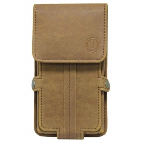 Leather Mobile Pouch For Oneplus X-brown
