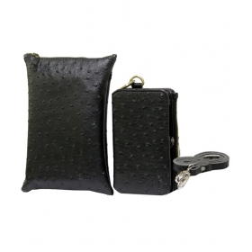 Leather Sling Bag Mobile Pouch For Asus Zenfone Selfie Black