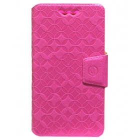 Wallet Cover For Spice Stellar 449 3g - Pink