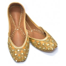 Gold Ethnic Footwear