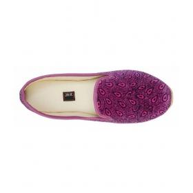 Purple Flat Ethnic Footwear