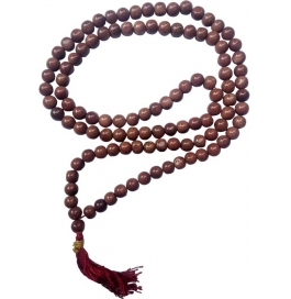 Natural Red Sansitara Stone Mala Stone Necklace