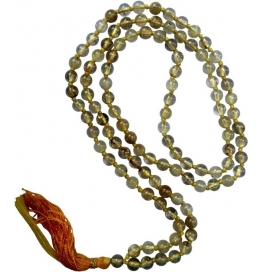 Natural Golden Rootail Stone Mala Stone Necklace