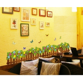 Ay7242b Well With Butterfly  Nature Wall Sticker  Jaamso Royals