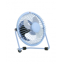 Usb Fan Mini Portable Desktop Cooling Desk Quiet Fan For Computer Laptop Pc-blue