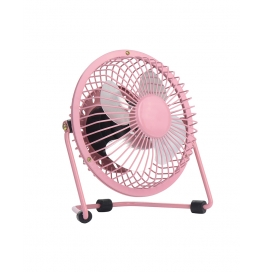 Usb Fan Mini Portable Desktop Cooling Desk Quiet Fan For Computer Laptop Pc-pink