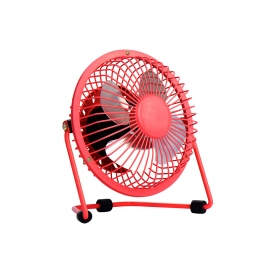 Usb Fan Mini Portable Desktop Cooling Desk Quiet Fan For Computer Laptop Pc-red