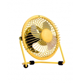 Usb Fan Mini Portable Desktop Cooling Desk Quiet Fan For Computer Laptop Pc-yellow