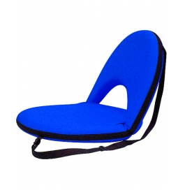 Portable Reclining Yoga Chair With 6 Adjustable Positions And Shoulder Strap - Navy Blue