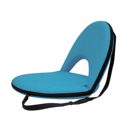 Portable Reclining Yoga Chair With 6 Adjustable Positions And Shoulder Strap - Sky Blue