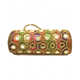 Multi Silk Box Clutch