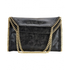 Black Pure Leather Envelope