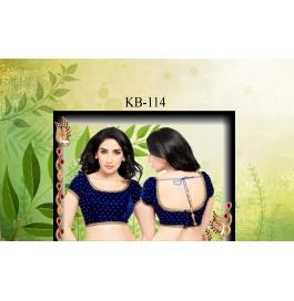 Kala Boutique Creation  Bluose Material Blue