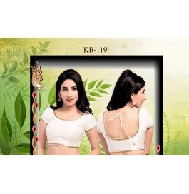 Kala Boutique Creation  Bluose Material White