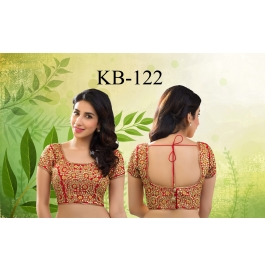 Kala Boutique Creation  Bluose Material Red