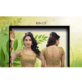 Kala Boutique Creation  Bluose Material Gold