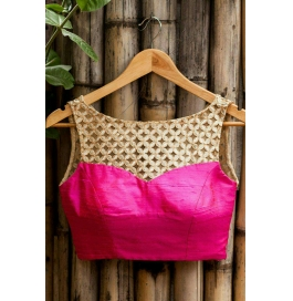 Kala Boutique Creation  Bluose Material Pink