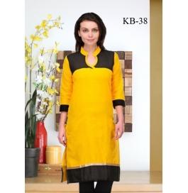 Kala Boutique Creation Yellow Cotton Kurti
