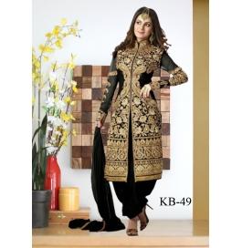 Kala Boutique Creation Black Gerogette Embroidery Work Salawar Suit