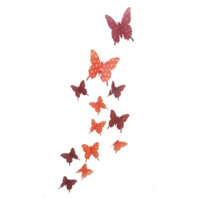 Hd-004 Orange And Brown Butterfly  Wall Sticker  Jaamso Royals