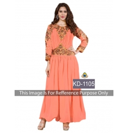 Sas Creations Fab Georgette Orange Gown