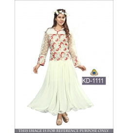 Sas Creations Georgette White Gown