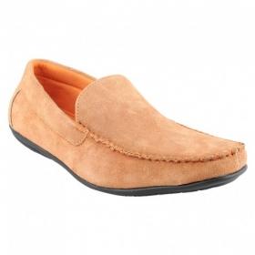 Men Orange Loafers