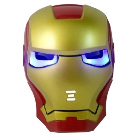 Iron Man Face Mask With Glowing Led Lights