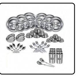 Kitchen Zone 50 Piece Stainless Steel Dinner Set