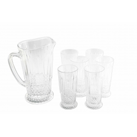 Glass Juice Drink Set Of 7 Pcs