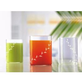 Borosil Vision Glass White Krip Large - 350 Ml