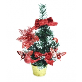 Christmas Table Top Decorative Trees - Red