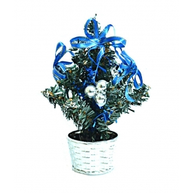 Christmas Table Top Decorative Tree - Blue