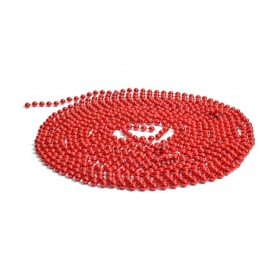 Christmas Tree Decorations Bead Chains Strings - Red
