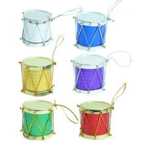 Christmas Tree Decorations Multicolour Shiny Drums Pack Of 1