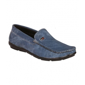 Mens Blue Loafers