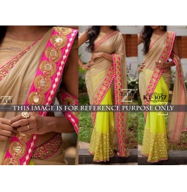 Sas Creations Primo Fab Silk Multi Saree