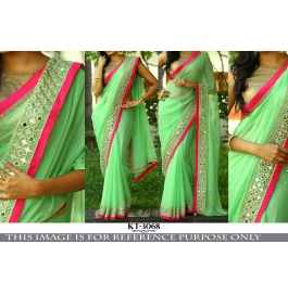 New Party Wear Saree With Blouse Piece